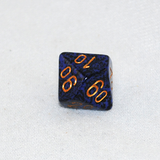 Speckled Golden Cobalt D100, 10 Sided Dice