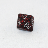 Speckled Silver Volcano D100, 10 Sided Dice