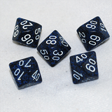 Speckled Stealth D100, 10 Sided Dice