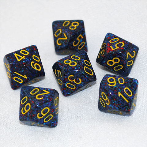 Speckled Twilight D100, 10 Sided Dice