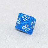 Speckled Water D100, 10 Sided Dice