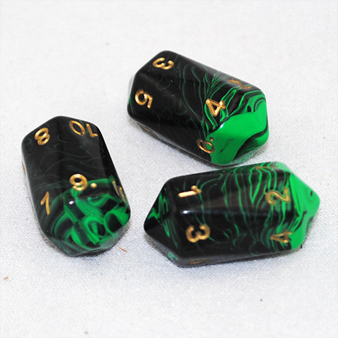 Crystal Shaped Oblivion 12 Sided D12 Dice (Green)