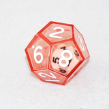 Clear Red Double 12 Sided Dice