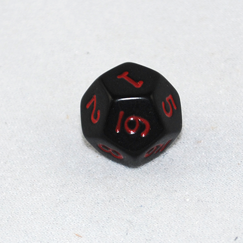 Opaque 12-Sided Dice (d12)
