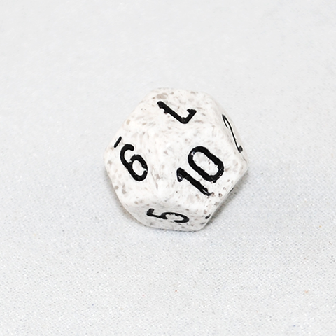 Speckled Arctic 12 Sided Dice