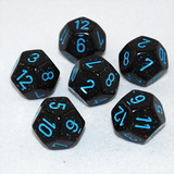 Speckled Blue Stars 12 Sided Dice