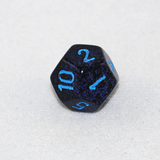 Speckled Cobalt 12 Sided Dice
