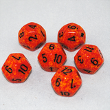 Speckled Fire 12 Sided Dice