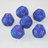 Speckled Silver Tetra 12 Sided Dice