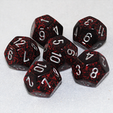 Speckled Silver Volcano 12 Sided Dice