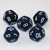 Speckled Stealth 12 Sided Dice