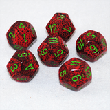 Speckled Strawberry 12 Sided Dice