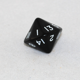Opaque Black 16 Sided Dice, D16