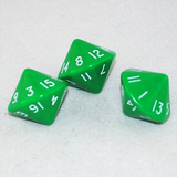 Opaque Green 16 Sided Dice, D16