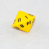 Opaque Yellow 16 Sided Dice, D16