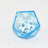 Clear Double 20 Sided Dice