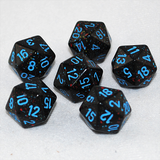 Speckled Blue Stars 20 Sided Dice