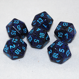 Speckled Cobalt 20 Sided Dice