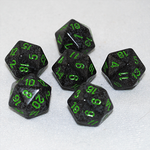 Speckled Earth 20 Sided Dice
