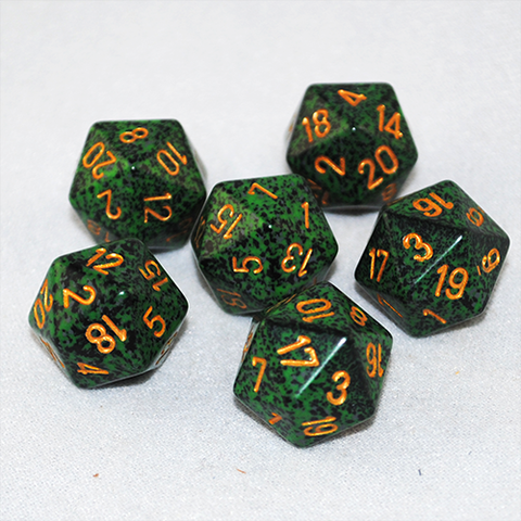 Speckled Golden Recon 20 Sided Dice