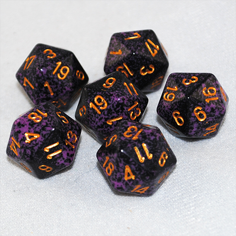 Speckled Hurricane 20 Sided Dice