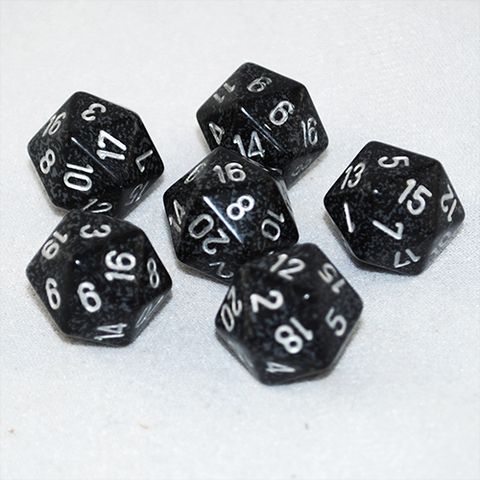 Speckled Ninja 20 Sided Dice