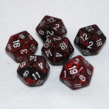 Speckled Silver Volcano 20 Sided Dice