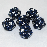 Speckled Stealth 20 Sided Dice