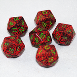 Speckled Strawberry 20 Sided Dice