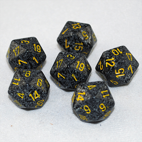 Speckled Urban 20 Sided Dice
