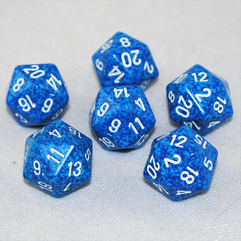 Speckled Water 20 Sided Dice