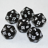 Transparent Smoke and White 20 Sided Dice