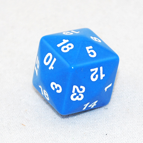 Opaque D24 Blue Twenty Four Sided Dice