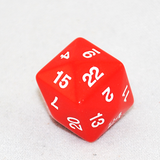 Opaque D24 Red Twenty Four Sided Dice