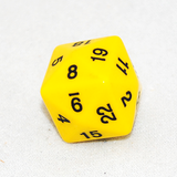 Opaque D24 Yellow Twenty Four Sided Dice
