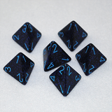 Speckled Cobalt 4 Sided Dice