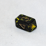 Crystal Oblivion 4 Sided Dice (Yellow)