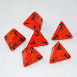 Speckled Fire 4 Sided Dice