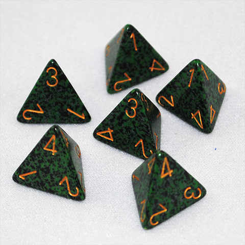 Speckled Golden Recon 4 Sided Dice