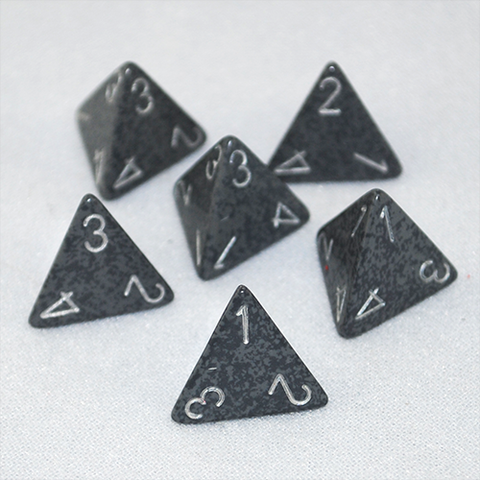 Speckled Hi Tech 4 Sided Dice