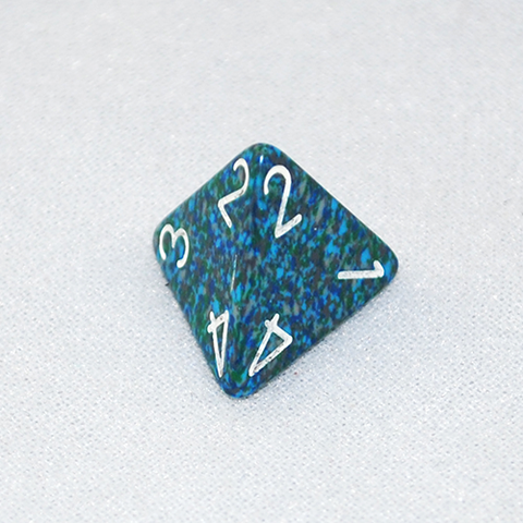 Speckled Sea 4 Sided Dice
