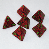 Speckled Strawberry 4 Sided Dice