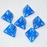 Speckled Water 4 Sided Dice