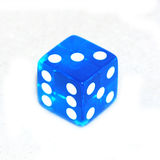Big Transparent Blue 6-Sided Square Dice