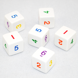6-Sided Rainbow Numbered Dice
