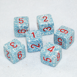 Speckled Air 6 Sided Dice