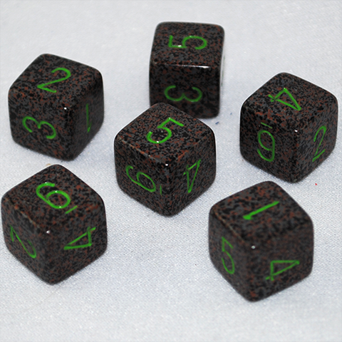 Speckled Earth 6 Sided Dice