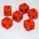Speckled Fire 6 Sided Dice