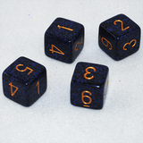 Speckled Golden Cobalt 6 Sided Dice