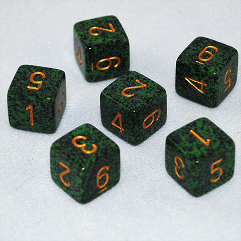Speckled Golden Recon 6 Sided Dice